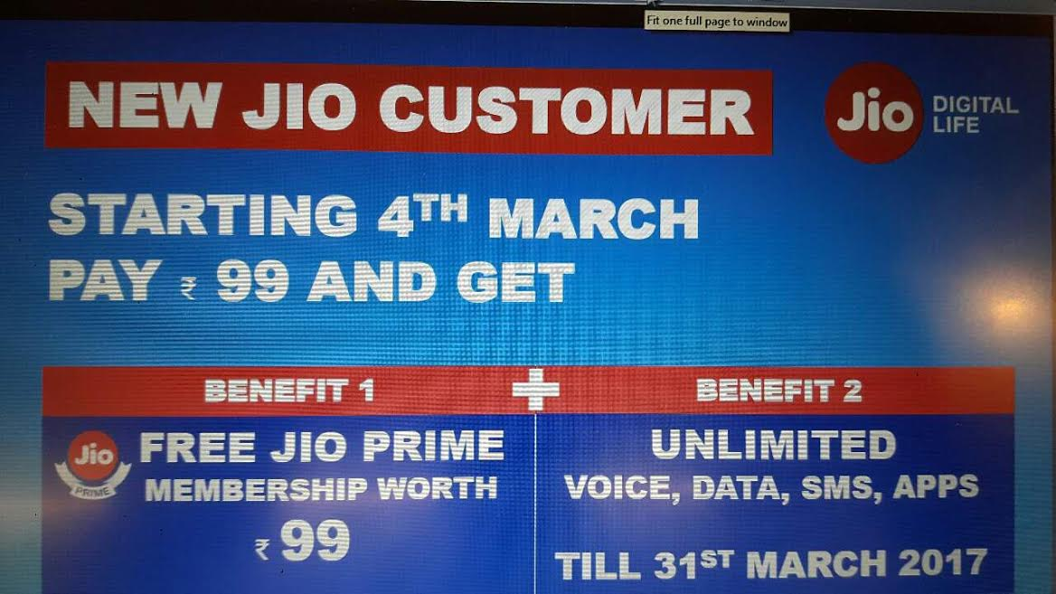 Reliance Jio Free Sim offer scrapped