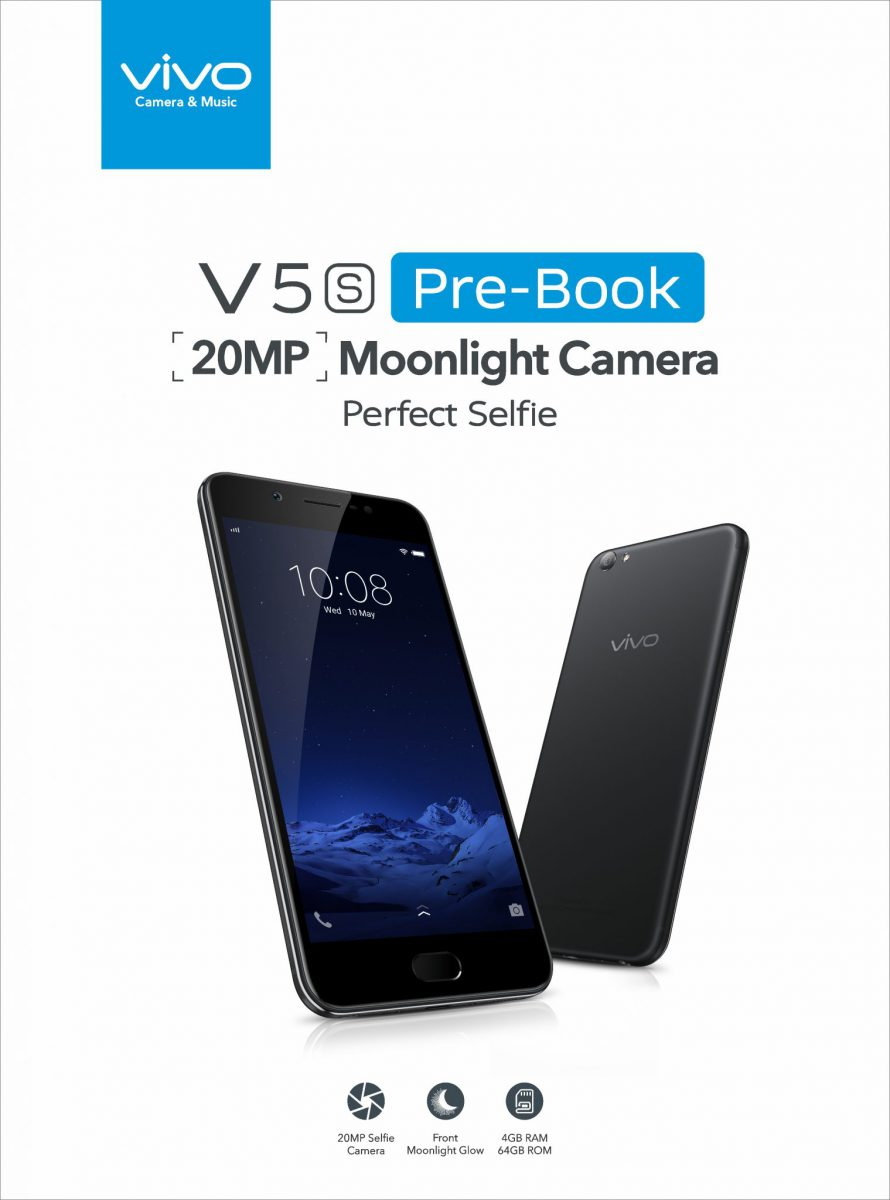 VIVO V5s 20MP Moonlight Camera Perfect Selfie :  Pre booking Started