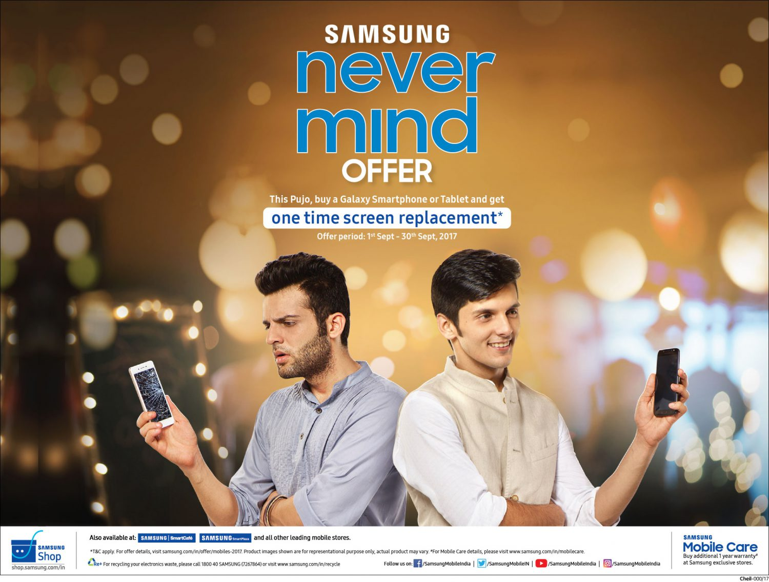 Samsung launch 'Never Mind offer' for west Bengal and North east India