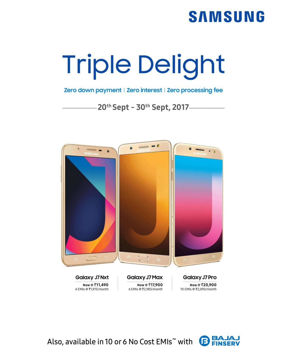 Samsung Mobile Navratre offer : Triple Delight