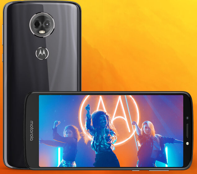 Moto E5plus 6 inch screen phone with 5000 mAh Battery
