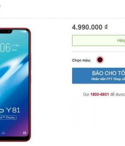 Vivo Y81 launched in Vietnam for 4.9 million dongs