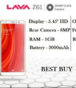 Lava Z61 : Leak images, features, Review and Price