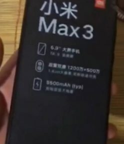 Leaked MiMax3 pics, features and Launch in India