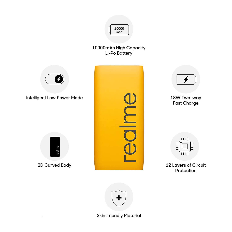 Realme Powerbank RMA137 10000 mah