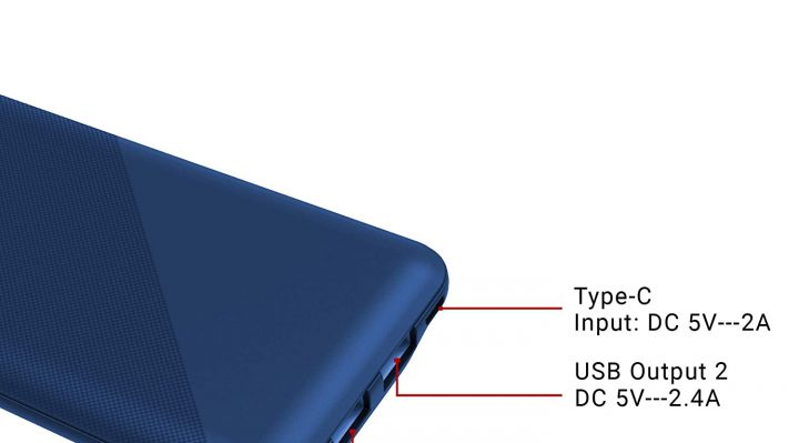 syska power pocket 100 P1016B power bank