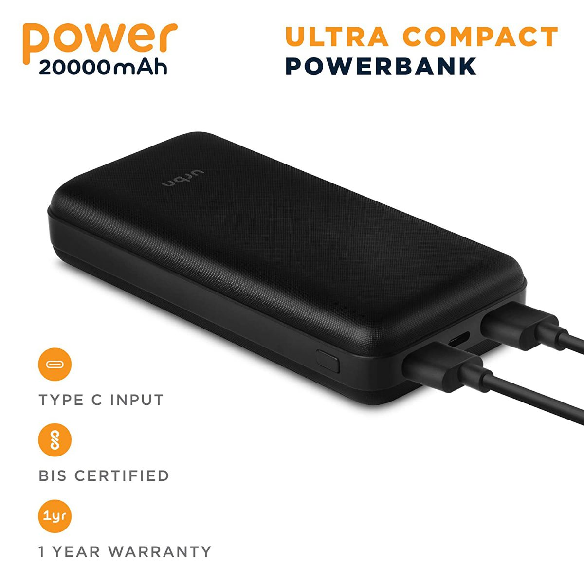 URBN UPR200 BK powerbank